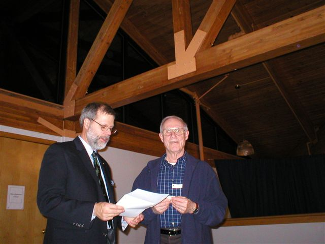 Lion Doug presenting Award to Lion Jack